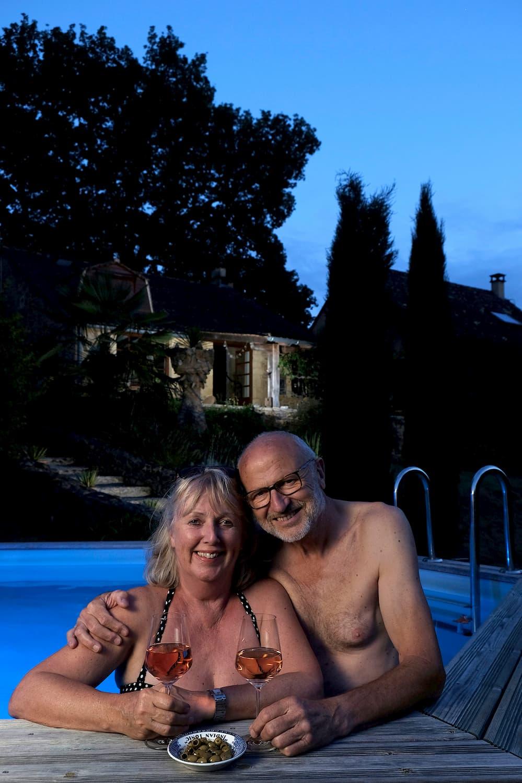 Portret Echtpaar In Frankrijk