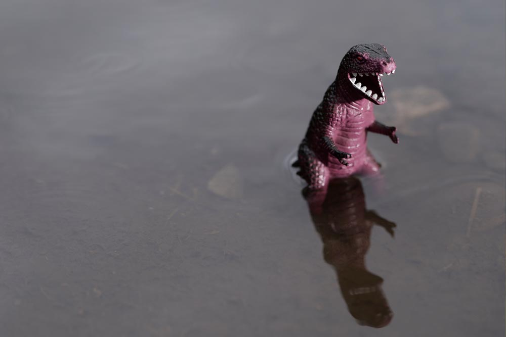 T-rex In Water